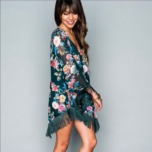 SMYM Rodeo Floral Fringe Dress Size Small